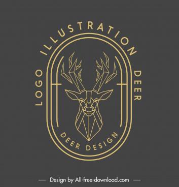reindeer logotype lowpoly sketch