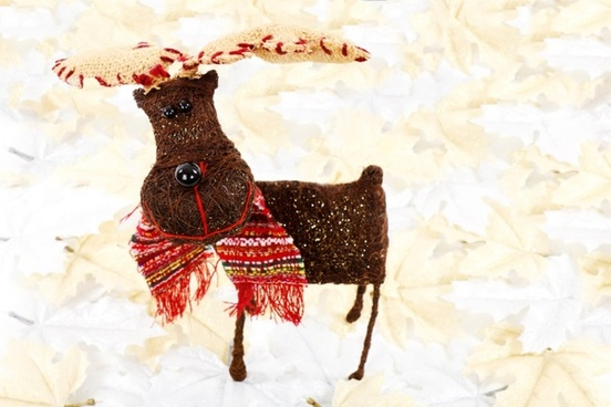 reindeer on leaves