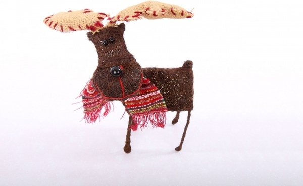 reindeer on white