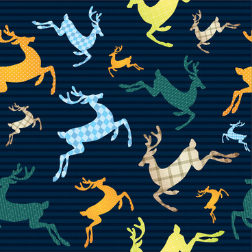 reindeers background vector illustration with various styles