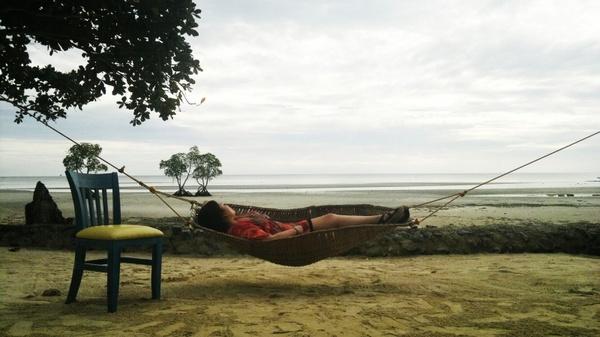 relax beach hammock