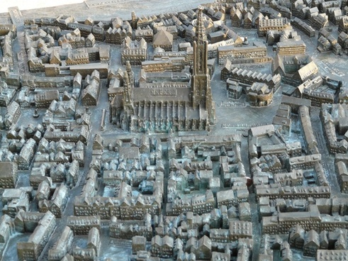 relief map ulm cathedral