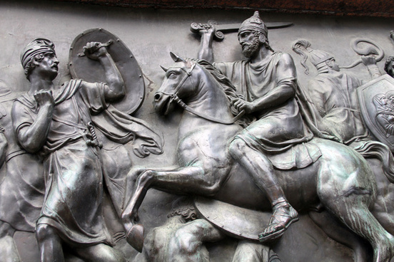 relief outside st basils cathedral red square moscow