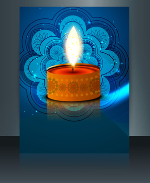 religious card design for diwali festival