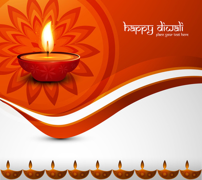 religious card design for diwali festival with colorful vector design