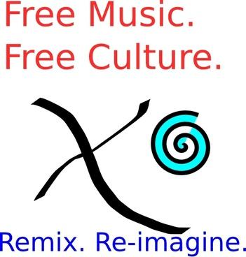 Remix Music clip art
