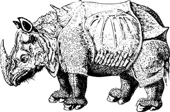 Renaissance Rhino clip art
