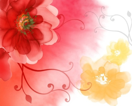 render flowers psd layered