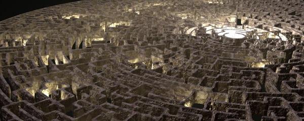 render maze graphic