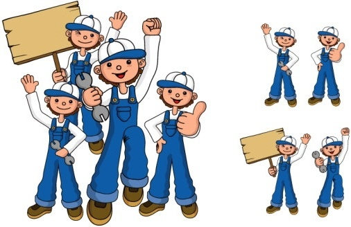 repair personnel figures vector