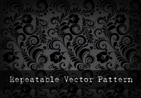 repeatable pattern background classical curved floral decoration