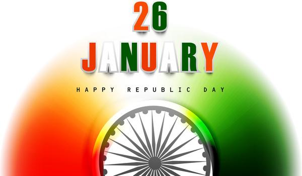 republic day indian vector tricolor flag design art