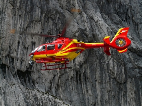 rescue helicopter colours red