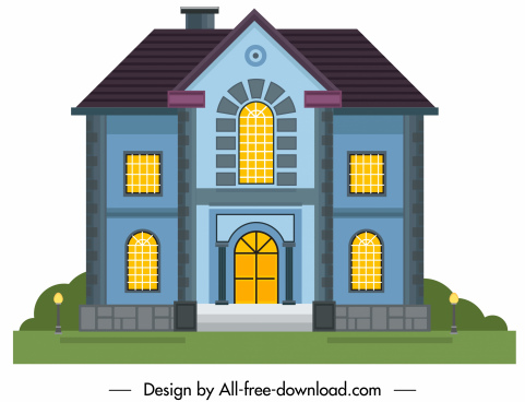 residential house template elegant european architecture design