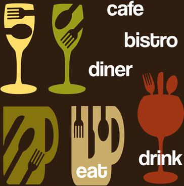 restaurant drink menu creative vector