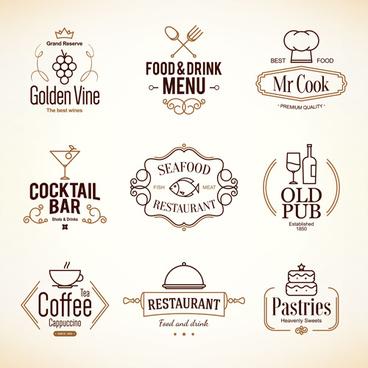 restaurant food menu logos vector design