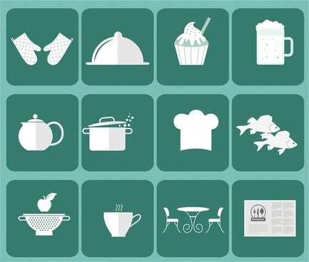 restaurant icon sets vector illustration with flat design