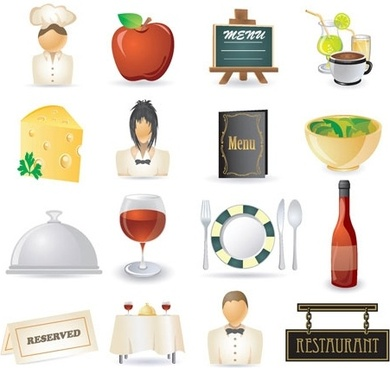 restaurant kitchen icon 02 vector