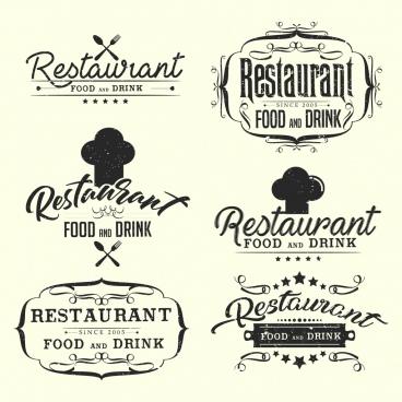 restaurant logotypes classical black white decor