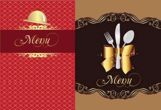 restaurant menu 01 vector