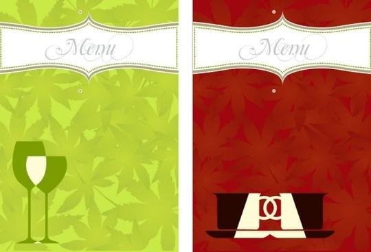 restaurant menu 03 vector