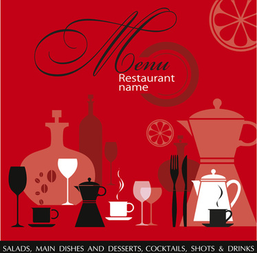 restaurant menu background vector set
