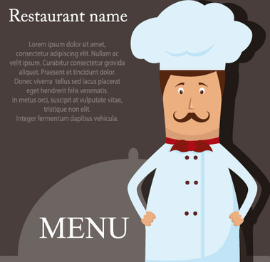 restaurant menu cook background vector