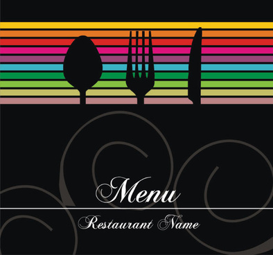 restaurant menu cover background vector