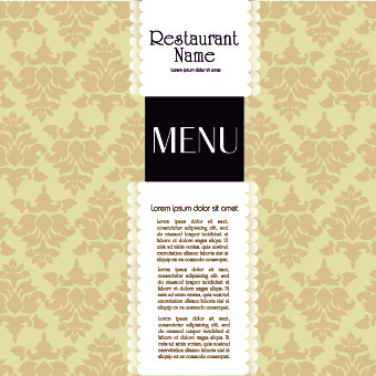 restaurant menu cover design set