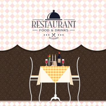 restaurant menu cover template classical decoration
