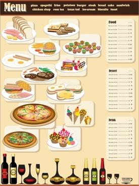 restaurant menu design 01 vector