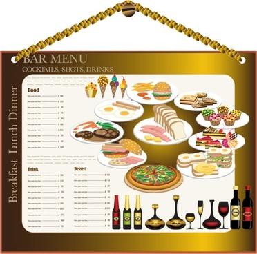 restaurant menu design 02 vector