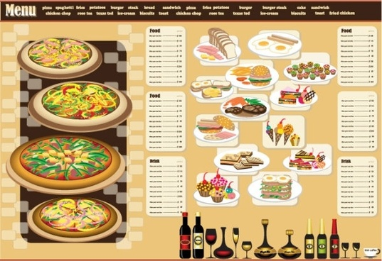 restaurant menu design 03 vector