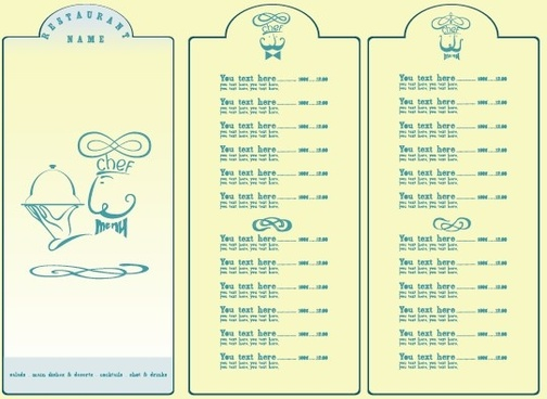 restaurant menu list design elements