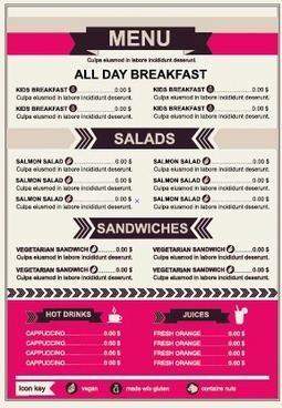 restaurant menu price list template vector - Free Price List Template