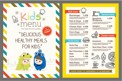 Remarkable image within printable kids menu