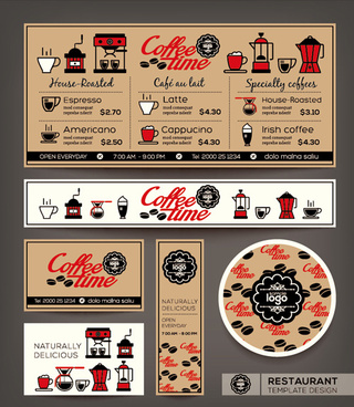 restaurant menu template vintage vector