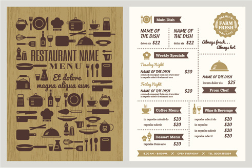 Corel Draw Restaurant Menu Template Download Free Vector Download - Take out menu template free