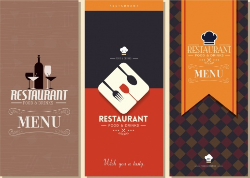 restaurant menu templates classical dark design