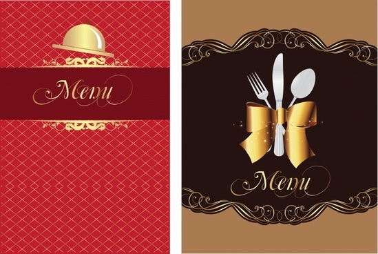 restaurant menu cover template elegant luxury dishwares decor