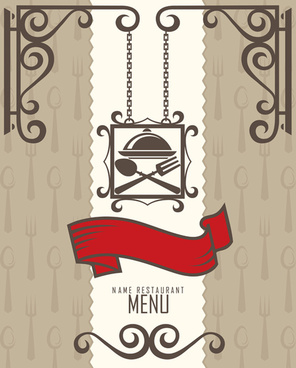 restaurant menus design cover template vector
