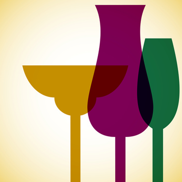 restaurant wine menu art cover vector
