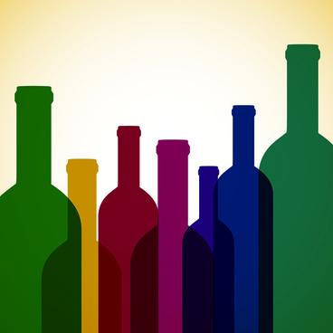 restaurant wine menu art cover vector