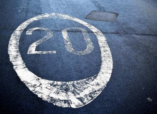 restrictions speed symbol