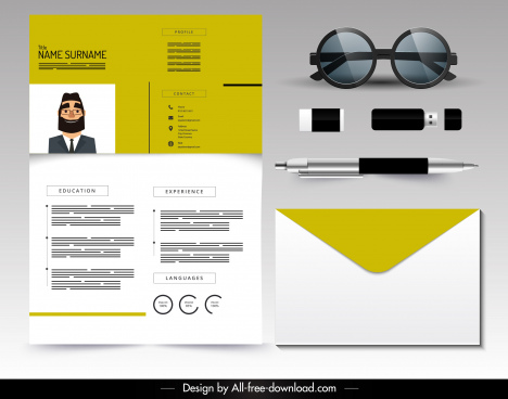 resume template modern simple plain design
