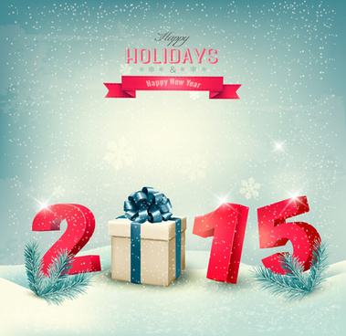 retro15 new year holiday vector background