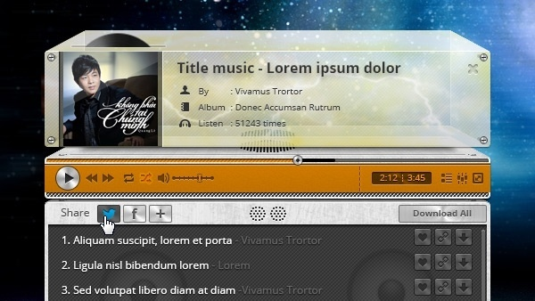 Retro Audio Player PSD