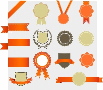 Retro Award design Elements