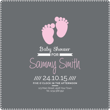 retro baby shower cards vector