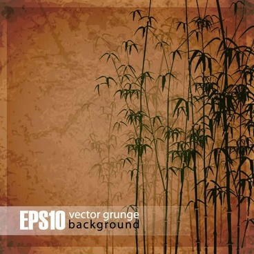 Retro bamboo forest background